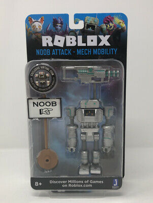 Lego Robot Roblox Noob Roblox Noob Attack Mech Mobility Figure Pack Exclusive Virtual Item Ebay