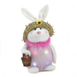 Mom-Easter-Bunny-with-Basket-and-Straw-Hat-LED-Color-Changing-Timer-Option