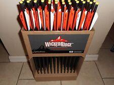 "12pk Wicked Ridge Crossbow Carbon Arrow Bolt 20"" BTV Vanes Omni NOCK Tenpoint"