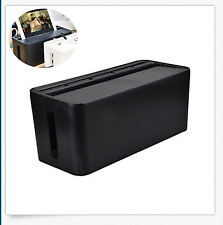 Power Strip Cable Cord Storage Box Tidy Wire Management Organiser Solution Tool