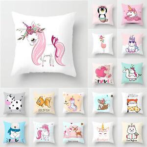 Cartoon-Horse-Printed-Cushion-Cover-Waist-Throw-Pillow-Case-Cute-Bed-Home-Decors