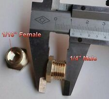 "Fitting Pipe NPT 1/4"" Male to 1/16"" Female Adapter Gauge Fuel Air Brass NN-HK"