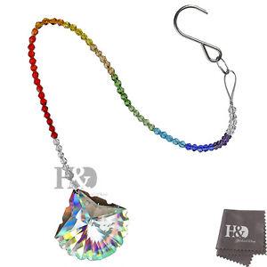 Window-Rainbow-Handmade-Suncatcher-Crystal-scallop-Prisms-Wedding-Home-Decor