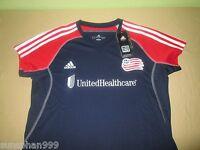 Ladies New England Revolution  MLS Soccer Football Jersey L Adidas Climacool NWT