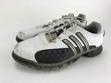 ADIDAS Mens Size 9.5 Traxion White Golf Cleats #791003~Powerband Chassis