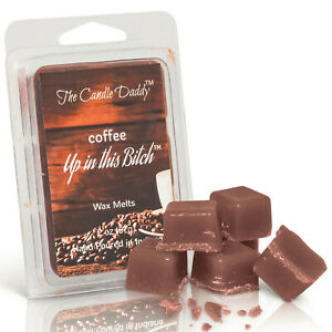 Funny-Coffee-Up-in-this-Bitch-Scented-Wax-Melts-Tart-OIl-warmer-burner-NEW