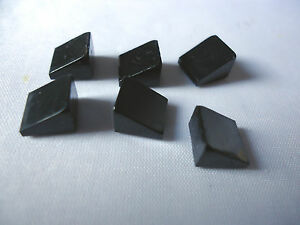 LEGO  30. 1 x 1 x 2/3 BLACK SLOPE x 6 PART 54200