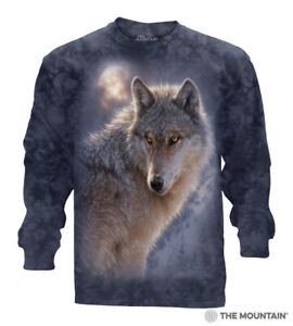 The-Mountain-Adult-Adventure-Wolf-Long-Sleeves-T-Shirt-Tee-Sizes-M-L-XL-NWT