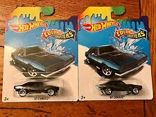 Hot Wheels Color Shifters '67 CAMARO Chevrolet Black to Blue Lot of TWO 2