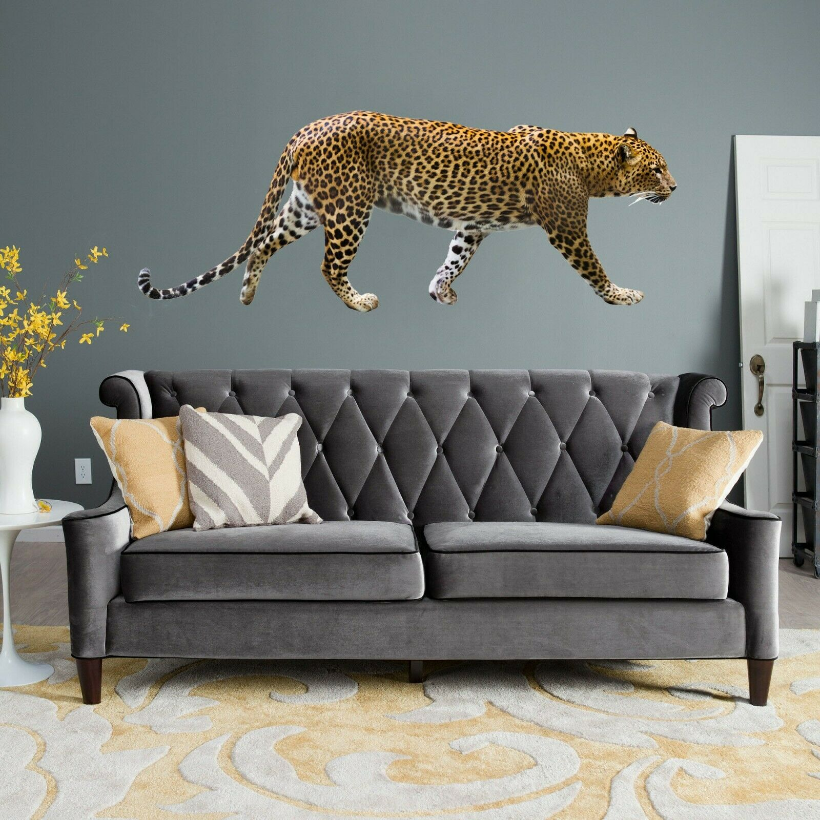 3D Leopard O72 Animal Wallpaper Mural Poster Wall Stickers Decal Angelia