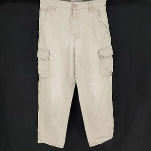 Pantalones Tipo Cargo De Trabajo 32x32 De Arizona Chinos Khakis Relajado Loose Straight Faded Usado Ebay