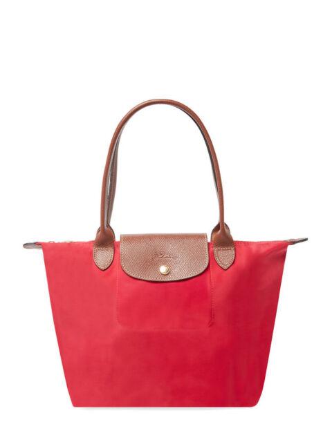 6901efff0844 Longchamp Le Pliage Medium SML Nylon Tote 2605089 Garance Red ...