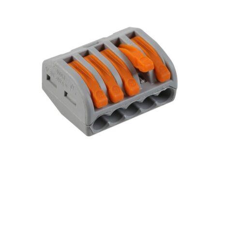 Borne de connexion Automatique 5 entrées fil souple rigide 222 PCT Dominino Wago