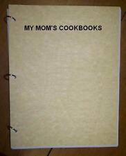 Salad - Pasta Salads - My Mom's Cookbook  Ring Bound Loose Leaf