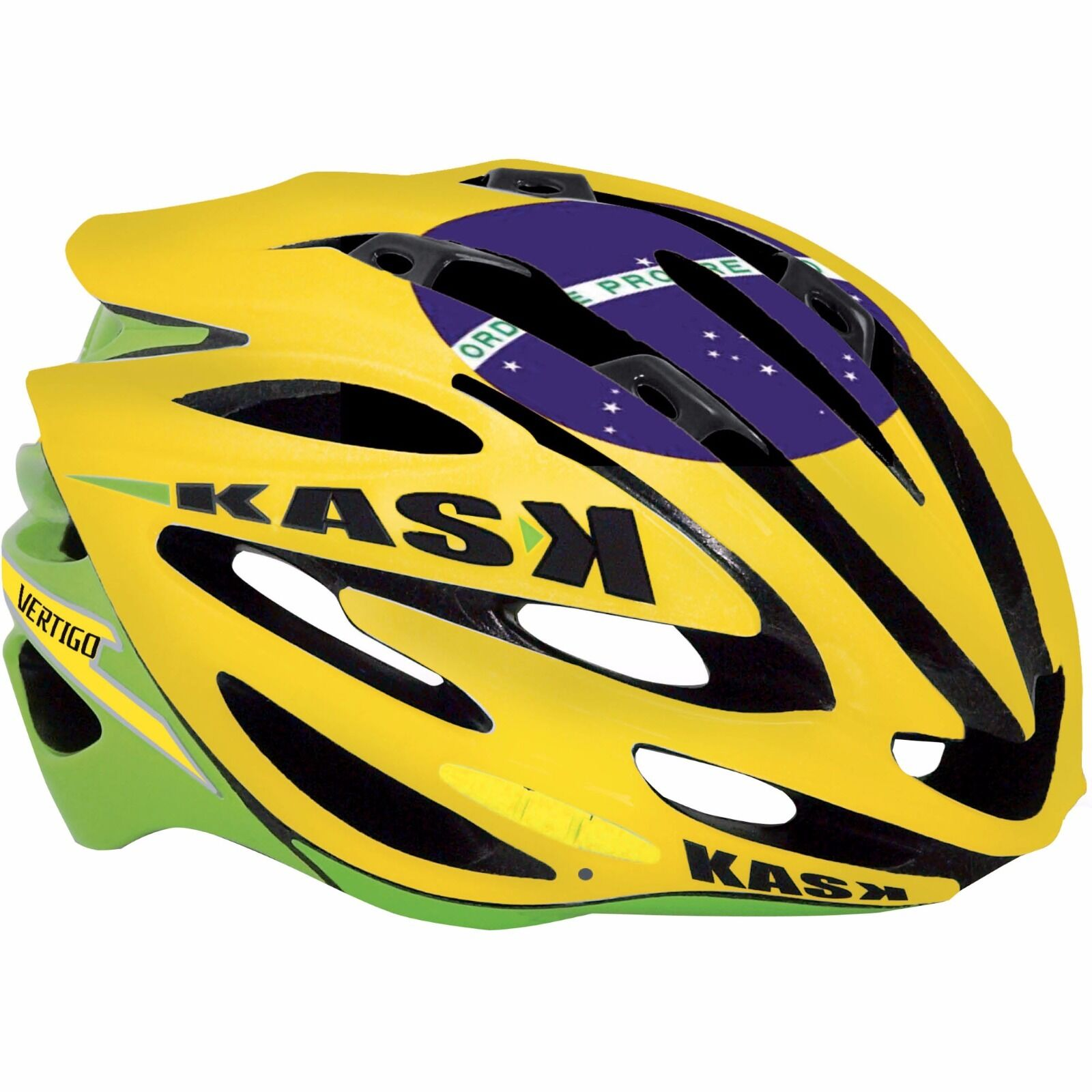 Kask greenigo Cycling Bicycle Bike Helmet Limited Edition Brazil Flag size Medium