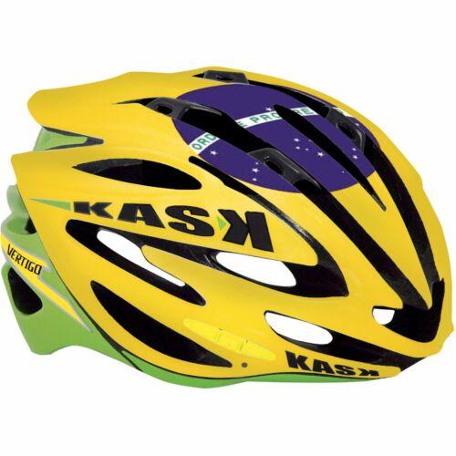 Kask Vertigo Cyclisme Vélo Casque Vélo édition limitée Brésil drapeau taille M
