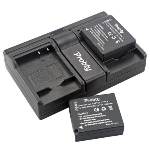2Pcs DMW-BLG10 USB Cargador Doble Para Panasonic DMC-GF6 DMC-GF3 DMC-GF5 DMC-GX7