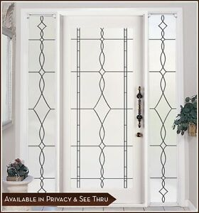 Allure Privacy Frosted Window Amp Door Film With Leaded
