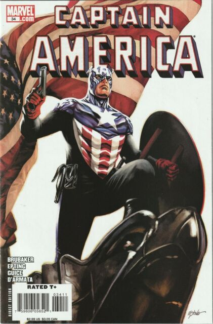 Captain America # 34 Cover A NM+ Marvel 1st Appearance Of Bucky As Cap
