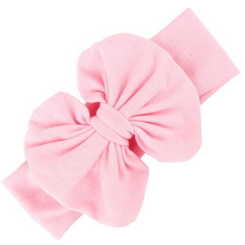 Filles bébé coton Bow bandeau Stretch turban noeud tête Wrap pour les Enfants FR