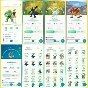 Pokemon-Account-Go-Lv-31-26-Shiny-Rare-66-Legendary-Rare-11-IV100-Rare