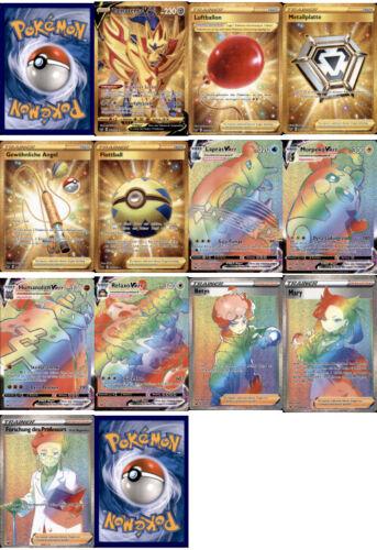 Deutsch /& Mint Rainbow /& Secret Rares zum aussuchen Pokemon Schwert /& Schild
