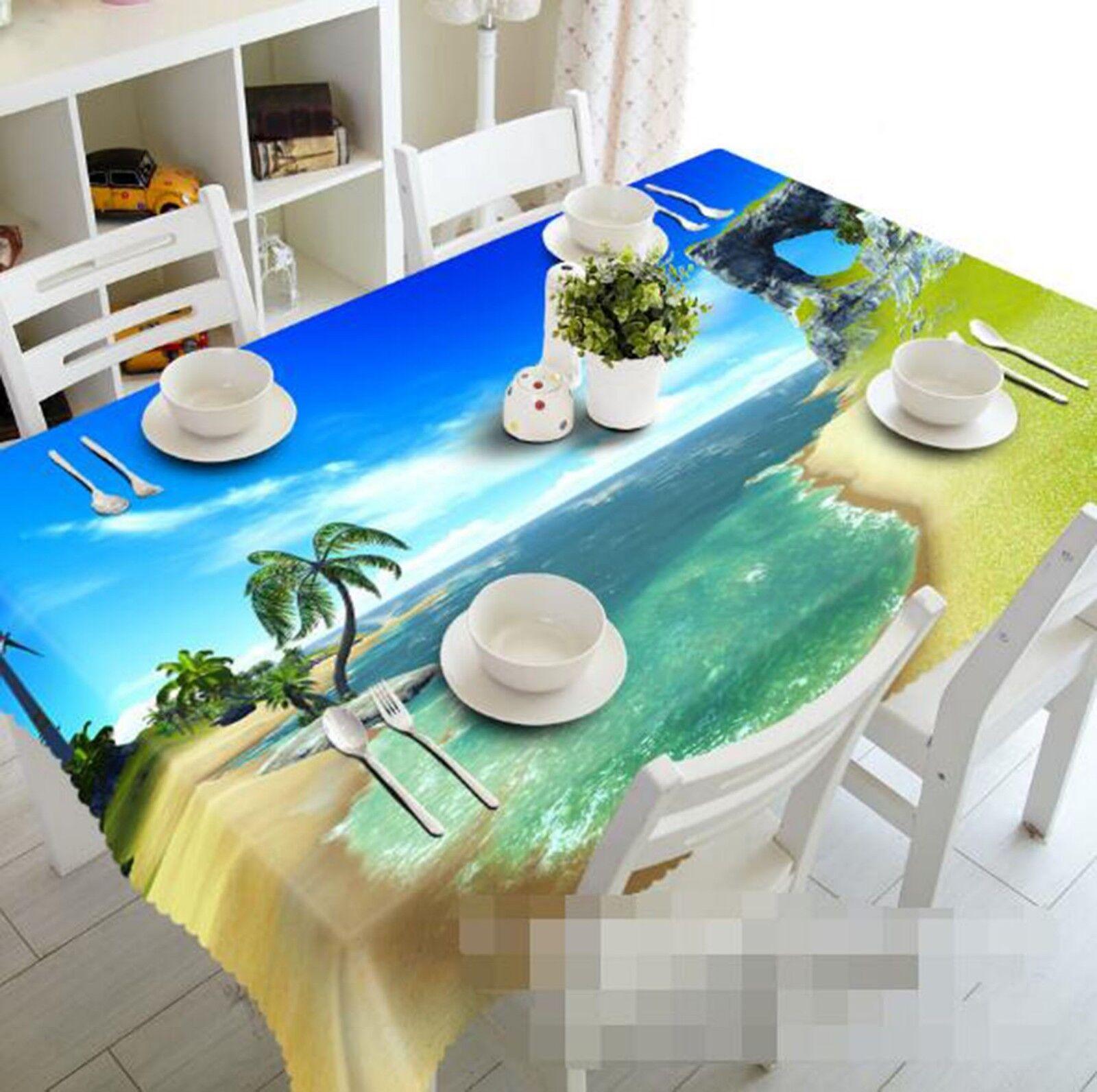 3D Beach Waves 138 Tablecloth Table Cover Cloth Birthday Party Event AJ Lemon