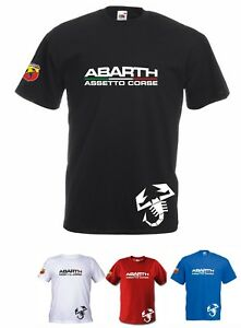 T-SHIRT-MAGLIETTA-ABARTH-ASSETTO-CORSE-RACING-COD139