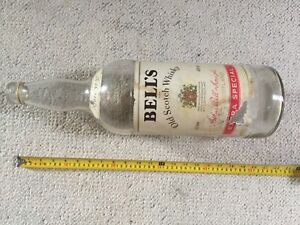Huge 1 Gallon / 8 Pint Bell's Old Scotch Whiskey Bottle - circa 1970's / 80's