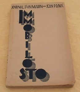 Journal D'un Marin Immobilosto ! Jean Praux Librairie Du Travail 1936 Rgtqjz1n-08004054-196439253
