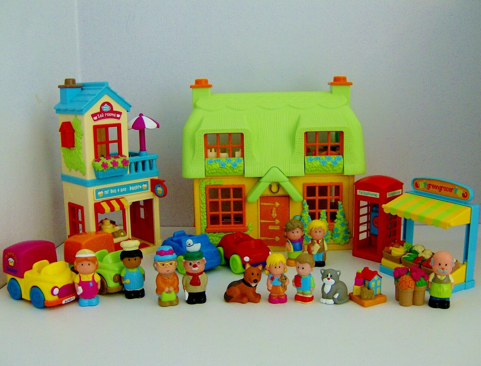 ELC Happyland pink Cottage Village Bundle