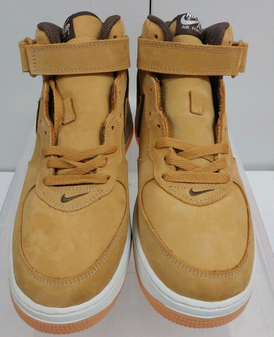 DS 2003 NIKE AIR FORCE 1 MID WP wheat wheat-baroque 307105-771 Sz 9.5