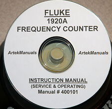 Fluke 1920a Frequency Counter Operating Amp Service Manual