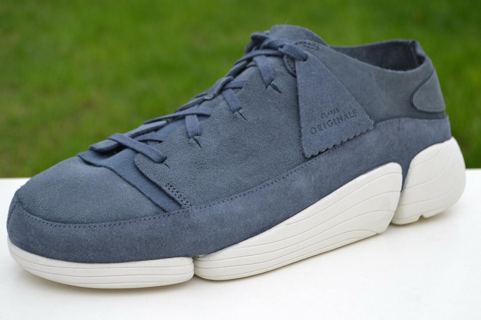 Clarks Originals Mens Shoes TRIGENIC EVO Denim Blue Suede UK 9 / 43