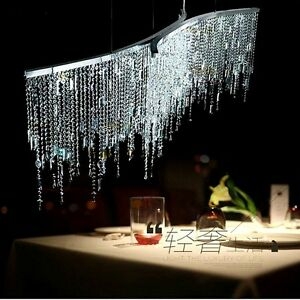 Details about Luxury Modern LED Italian Crystal Dining Room Restaurrant  Chandelier Lighting