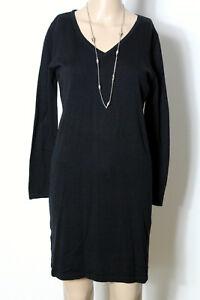 MANGO-Kleid-Gr-S-schwarz-kurz-mini-Stiefel-Strick-Kleid