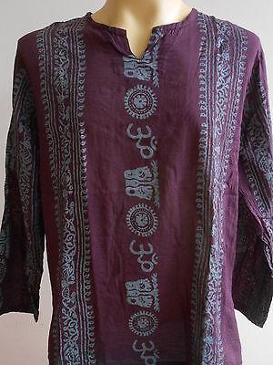 Ganesh Ganesha Om Men's T Shirt Hindu India Dark Purple L XL 2XL Ft02
