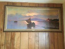 Vintage Paintings by R. Salvino , Fishermans Fairwell