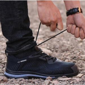 Men' Safety Shoes Steel Toe Lightweight Bulletproof Midsole Outdoor Hiking Shoes