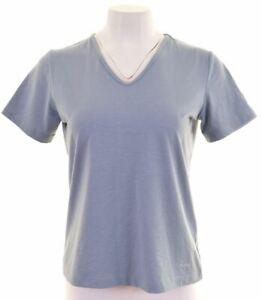 Rohan-Damen-T-Shirt-Top-Groesse-10-Small-blau-Polyester-hp09