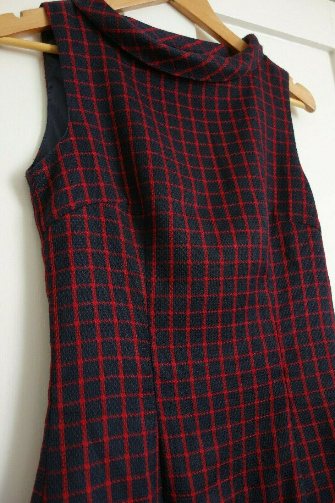 Collectif, Bright and beautiful, Navy, Ruth waffle check dress size 8, BNWT