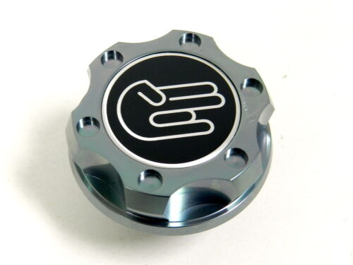 GUNMETAL SHOCKER BILLET CNC RACING ENGINE OIL FILLER CAP FOR MITSUBISHI