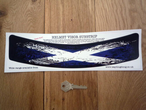 Scottish SALTIRE Worn Distrssed HELMET VISOR SUNSTRIP Sticker Car Bike Flag