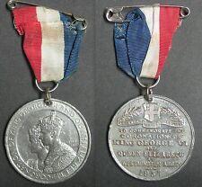 MEDAILLE DU COURONNEMENT DU  ROI GEORGE VI ET DE LA REINE ELIZABETH 1937