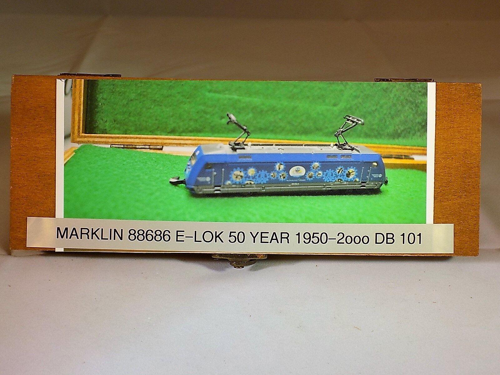 MARKLIN Z SCALE 88686 50 YEAR YEAR YEAR ANNIVERSARY BR 101 ELEC LOCO DB 5 POLE MOTOR 426238