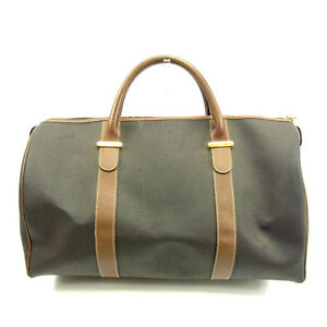 Dunhill-Boston-bag-Grey-Brown-Woman-Authentic-Used-Y4008