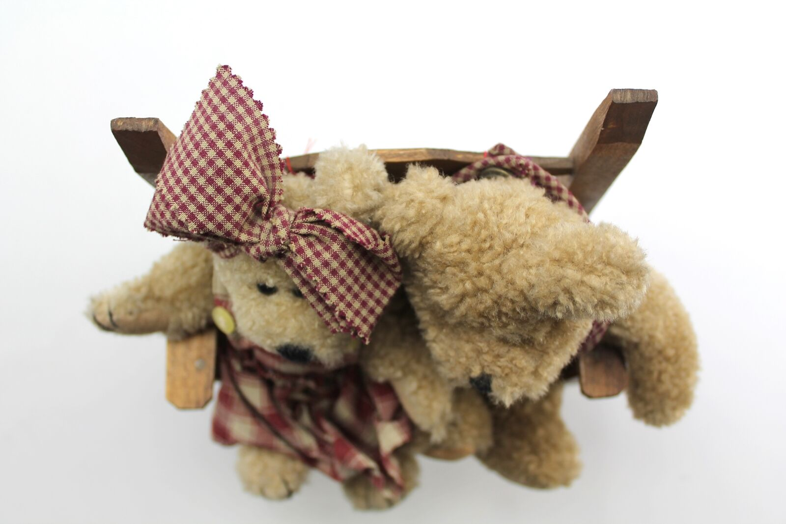 Boyds Bears Bosley Boy & Eudemia Girl Pair in in in Bench rot Gingham Jumper & Bib b0ab59