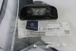 Genuine-Mercedes-Benz-W203-C-Class-REAR-Number-Plate-Lamp-A2038200756-NEW