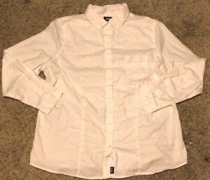 Lee-Uniforms-Juniors-039-Slim-Fit-Long-Sleeve-Oxford-Blouse-White-2X-Large-2XL-Plus