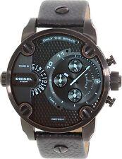 Diesel Men's Little Daddy DZ7334 Black Leather Quartz Dress Watch